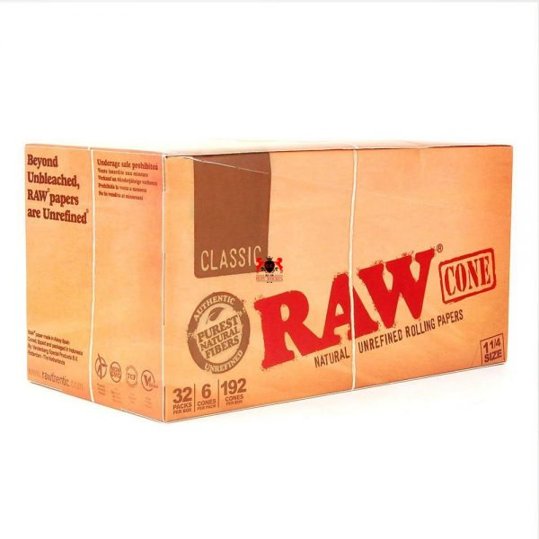 raw-classic-32-packs-6-cones-192-cones-per-box-1