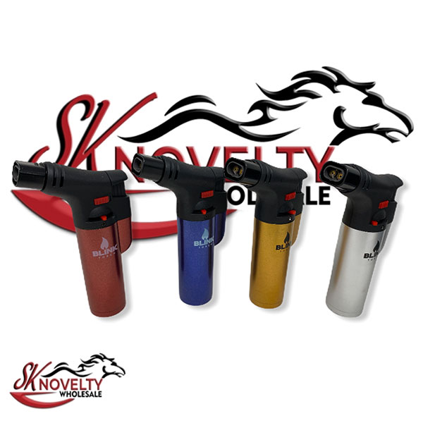 Blink Torch Dual Metal Butane Gas Lighters 12pcs Wholesale 2