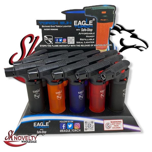Eagle Jet Torch Lighter Adjustable Flame Windproof Butane Refillable 1
