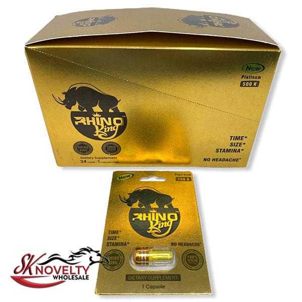 Long Lasting Male Enhancement Singlel Regular Pill Pills Sex 24 Counts Count Rhino King Platinum 500k 1