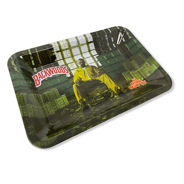 Backwoods Breaking Bad Rolling Tray Tobacco 7 By 5 Design 2