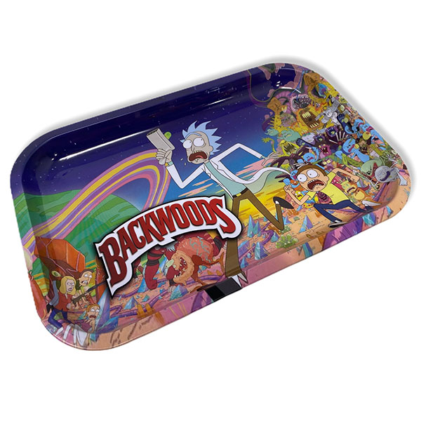 Backwoods Rick And Morty Rolling Tray Tobacco 11 By 7 Design 2