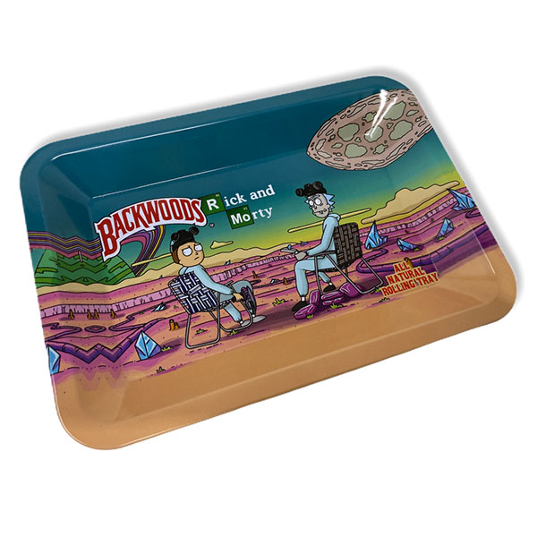 Backwoods Rick And Morty Rolling Tray Tobacco 7 By 5 2