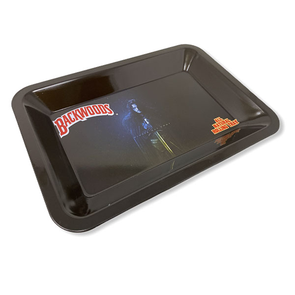 Backwoods Rolling Tray Tobacco 7 By 5 Design 2