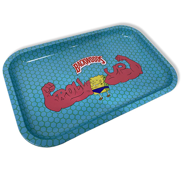 Backwoods Spongbob Square Pants Rolling Tray Tobacco 11 By 7 Design 2