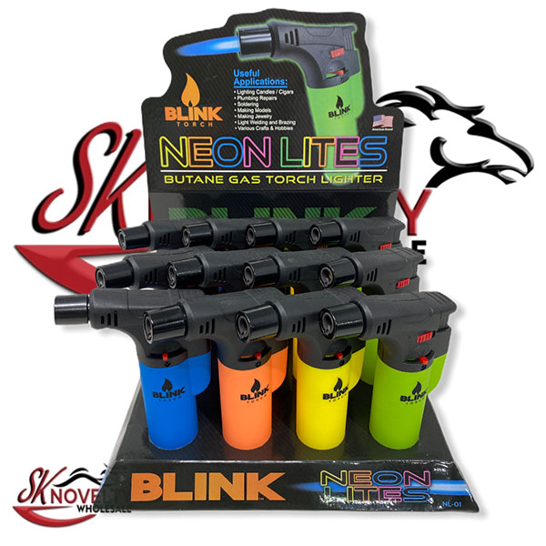 Blink Torch Lighter 12pcs Neon Lites Butane Gas 1