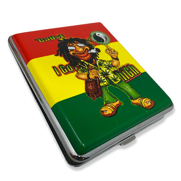 Cigarette Case 100mm Rasta Man Design 2