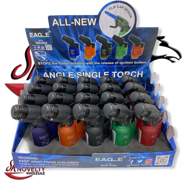 Eagle Torch Lighter Angle Single Torch Flip Cap Design 20pcs 1
