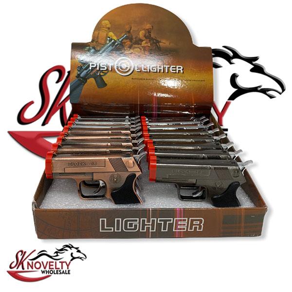Glock 18 Pistol Lighter Clock Wholesale 16 Count Laser Point Torch 1