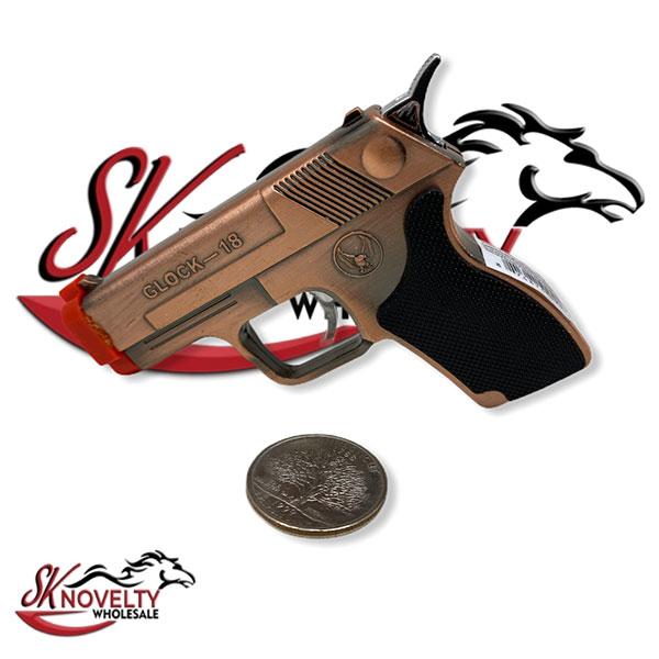 Glock 18 Pistol Lighter Clock Wholesale 16 Count Laser Point Torch 2