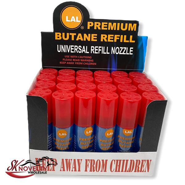 Lal Premium Butane Refill 24 Count Display Universal Nozzle 2