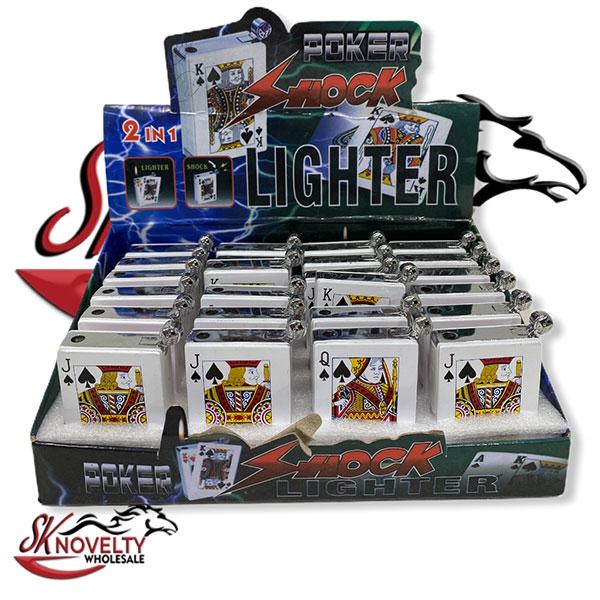 Lighter Poker Shock 24 Count Display 1
