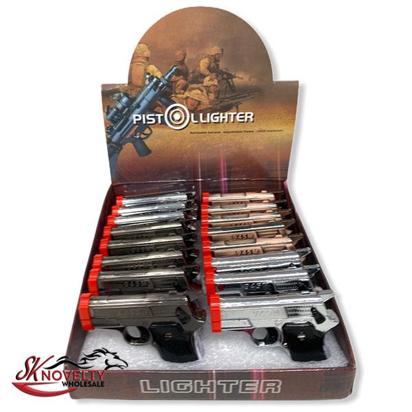 Pistol Lighter 945 M 16 Count Display 1