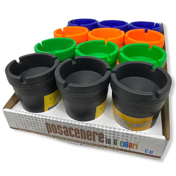 Plastic Ashtray Posacenere In 4 Colors 12 Pcs Car Jumbo Butt Bucket 1