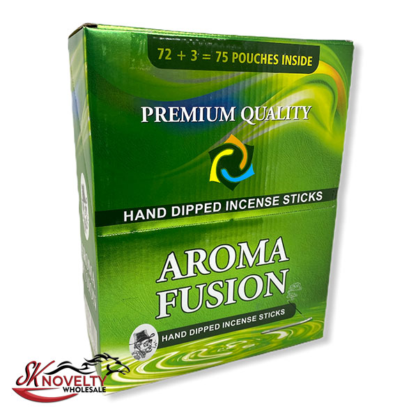 Premium Quality Aroma Fusion Hand Dipped Incense Sticks 75 Pouches Inside Count 1