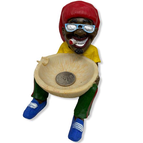 Rasta Man With Sun Glasses Chilling Smoking
