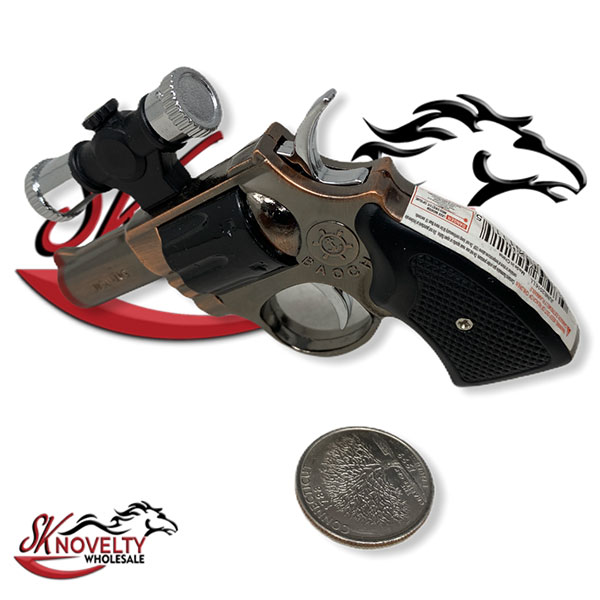 Revolver Gun With Laser Lighter 1