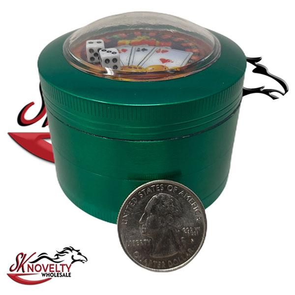 Wholesale Best Tobacco Herb Grinder Antique Leaf Putting Bulk Size Price Gold Hand Held Dice 4 Parts 2