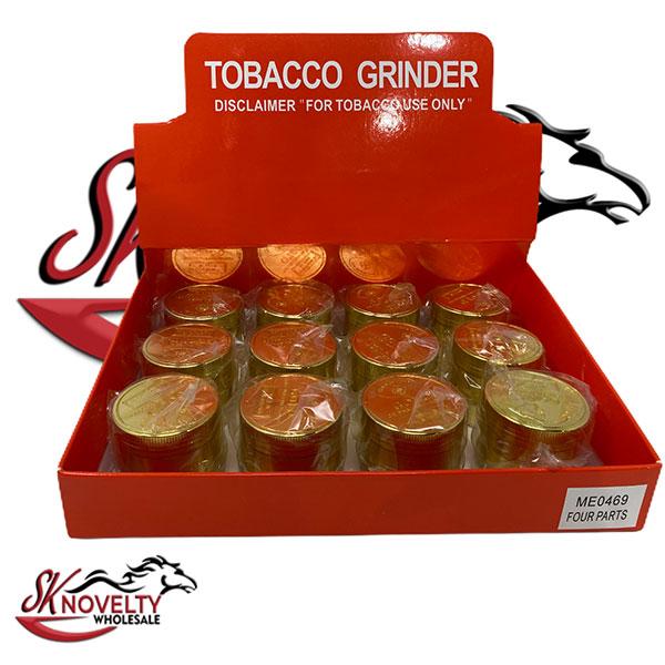 Wholesale Best Tobacco Herb Grinder Antique Leaf Putting Bulk Size Price Gold Hand Held Gold Design 1