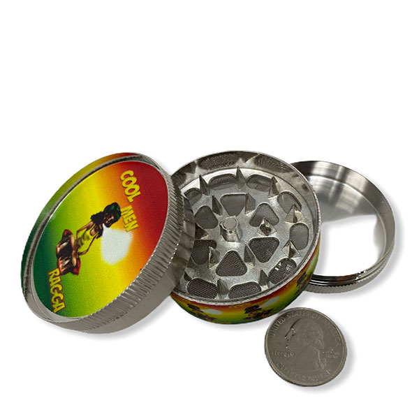 Wholesale Best Tobacco Herb Grinder Antique Leaf Putting Bulk Size Price Hand Held Cool Rasata Jamaica 3 Parts 2