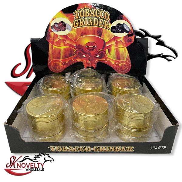 Wholesale Best Tobacco Herb Grinder Antique Leaf Putting Bulk Size Price Hand Held Gold Bigger 3 Parts 1