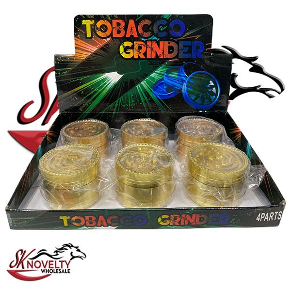 Wholesale Best Tobacco Herb Grinder Antique Leaf Putting Bulk Size Price Hand Held Gold Mazel 4 Parts 1