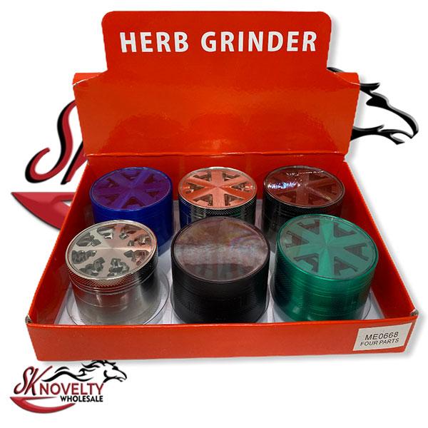 Wholesale Best Tobacco Herb Grinder Antique Leaf Putting Bulk Size Price Hand Held Maze Big Multicolor 4 Parts