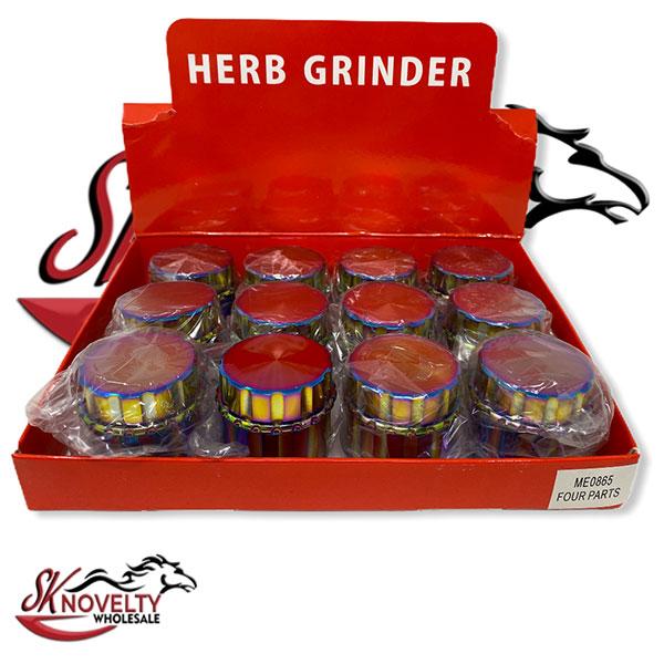 Wholesale Best Tobacco Herb Grinder Antique Leaf Putting Bulk Size Price Hand Held Metal Rainbow 4 Parts 1