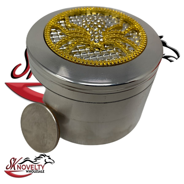 Wholesale Best Tobacco Herb Grinder Antique Leaf Putting Bulk Size Price Hand Held Per Diamond 4 Parts 2