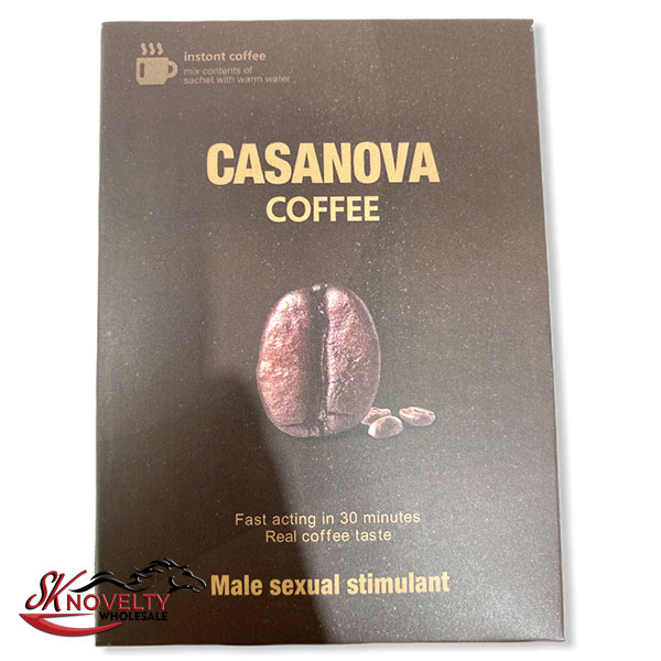 Casanova Coffee Pouches Male Enhancement Singple Pill Enhancer Sexual Boost Stamina Sex Xxx 10 Count Display 2