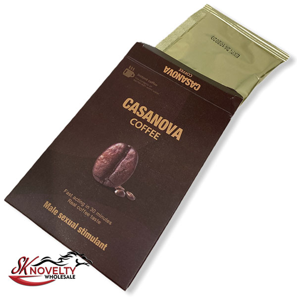 Casanova Coffee Pouches Male Enhancement Singple Pill Enhancer Sexual Boost Stamina Sex Xxx 10 Count Display 3