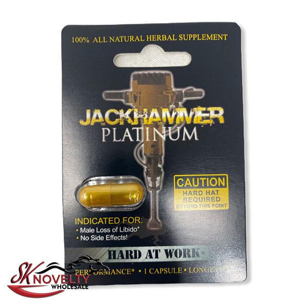 Jackhammer Platinum Long Lasting Male Enhancement Single Pill Pills Sex 12 Counts Count