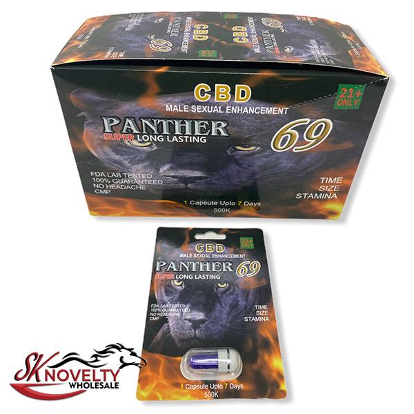 Panther 69 Super Platinum Long Lasting Male Enhancement Single Pill Pills Sex 24 Counts Count 2