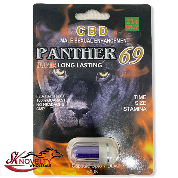 Panther 69 Super Platinum Long Lasting Male Enhancement Single Pill Pills Sex 24 Counts Count