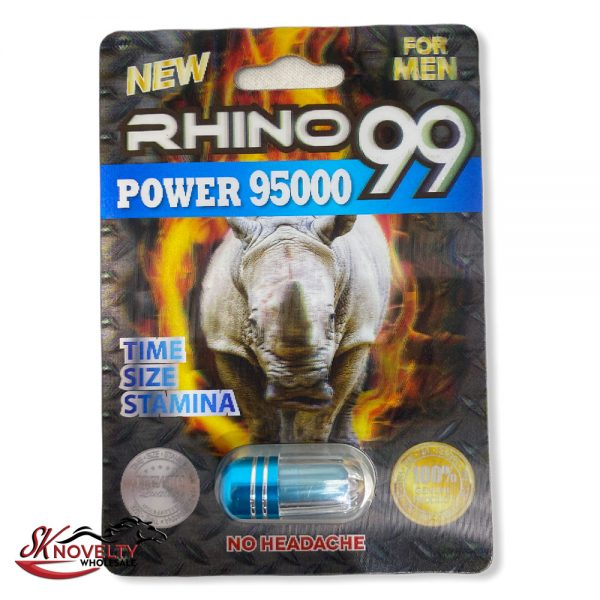 Rhino 99 Power 95000 Male Enhancement Singple Pill Enhancer Sexual Boost Stamina Sex Xxx 24 Count Display 1