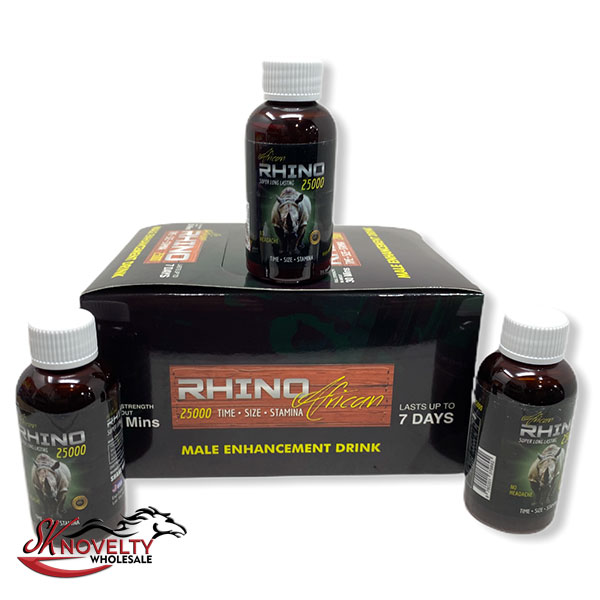 Rhino African 25k Male Enhancement Enhancer Sexual Boost Stamina Sex Xxx 12 Count Display 1