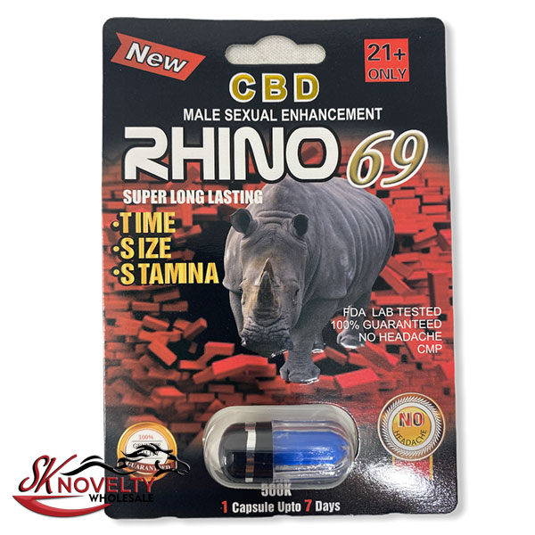 Rhinor 69 Super Platinum Long Lasting Male Enhancement Single Pill Pills Sex 24 Counts Count
