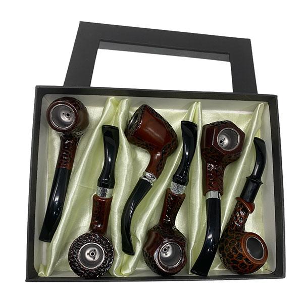 Wooden Tobacco Pipe 6 Piece Hand Finished 1