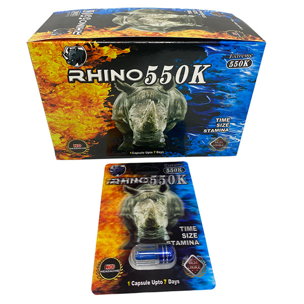 Best Online Buy Rhino 550k Extreme Long Lasting Male Enhancement 24 Count 1