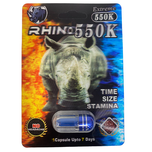 Best Online Buy Rhino 550k Extreme Long Lasting Male Enhancement 24 Count 3