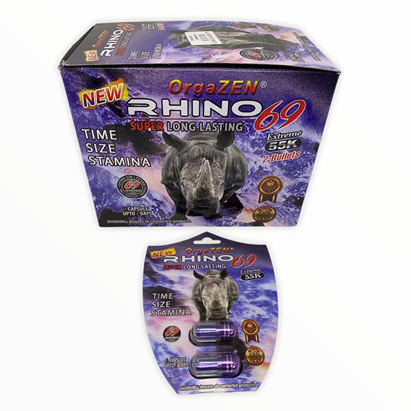 Orgazen Rhino 69 55k Extreme Shield Pill Male Enhancement 1