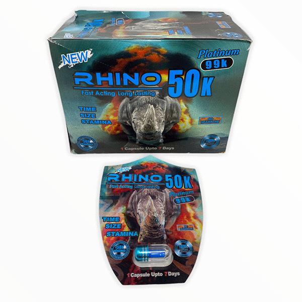Rhino 50k Platinum 99k New Male Enhancement Pill 1