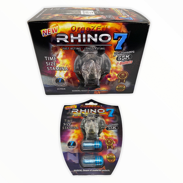Rhino 7 Orgazen Platinum 55k Male Enhancement Pill 1