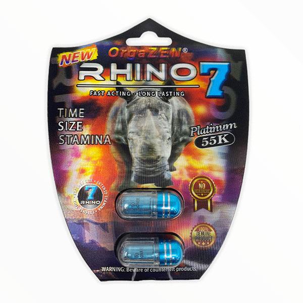 Rhino 7 Orgazen Platinum 55k Male Enhancement Pill 2