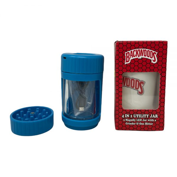 4 In 1 Utility Jar A Manify Led Jaard With Grinder And One Hitter